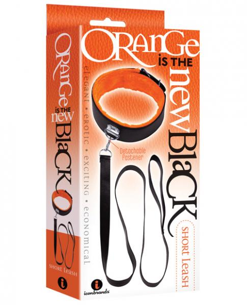 Black Orange Short Leash