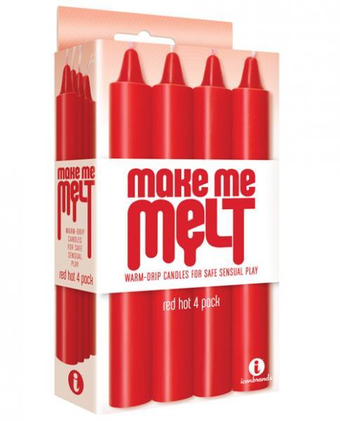 Make Me Melt Sensual Warm Drip Candles 4 Pack Red