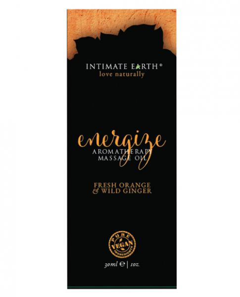 Intimate Earth Energize Massage Oil Foil 1oz
