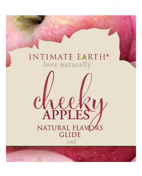 Intimate Earth Oil Natural Flavor Glide Cheeky Apples .1oz