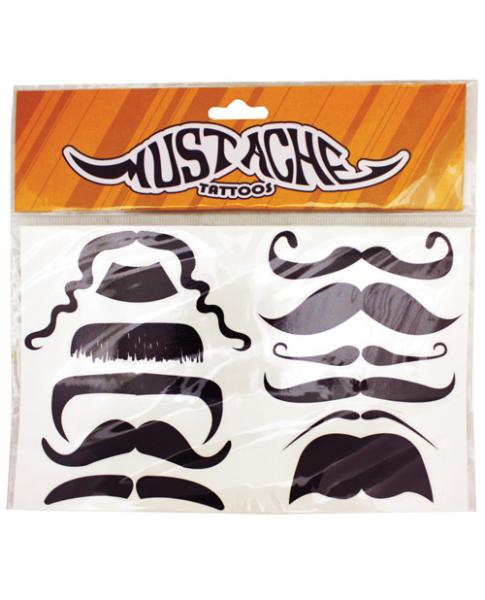 Mustache Tattoo 12 Pack