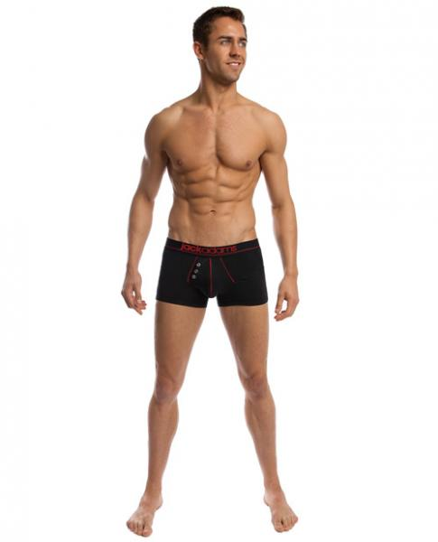 Navy Boxer Brief Black/Red Small
