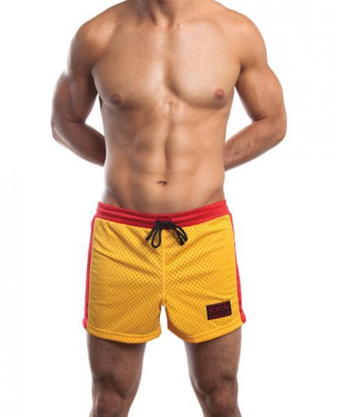 Jack Adams Air Mesh Gym Shorts Gold/Red XL