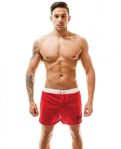 Air Mesh Gym Short Red White XL
