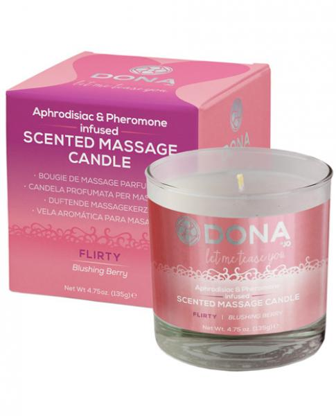 Dona Scented Massage Candle Flirty Blushing Berry 4.75oz
