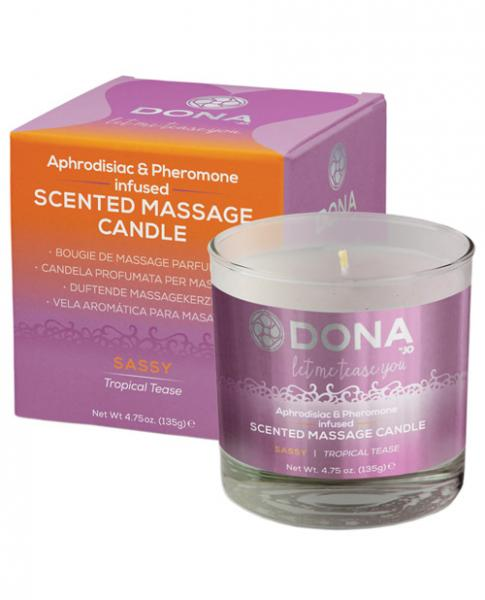 Dona Scented Massage Candle Sassy Tropical Tease 4.75oz