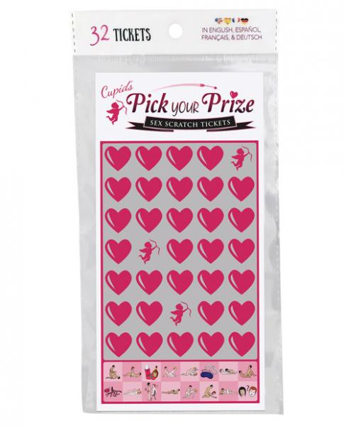 Cupid's Pick Your Prize Sex Scratch Tickets 32 Pack