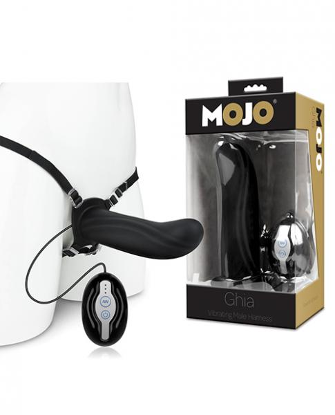 Mojo Ghia Vibrating Male Harness Black