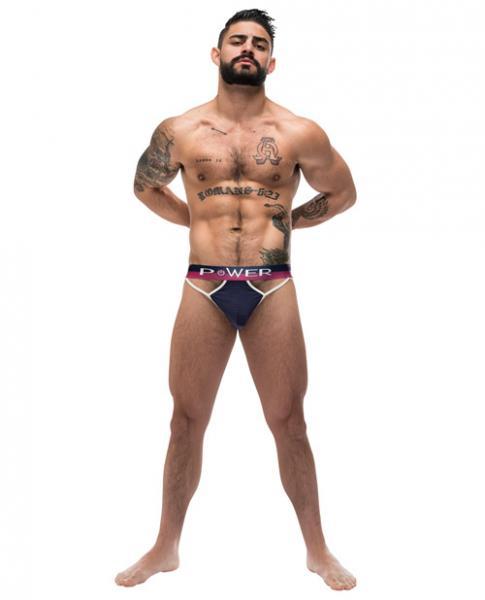 French Terry Cutout Thong Navy S/M