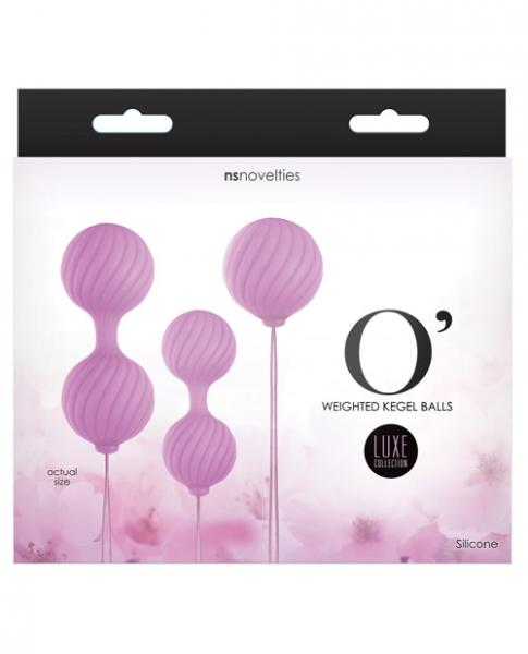 Luxe O Weighted Kegel Balls Set Pink