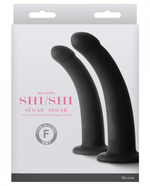 Shi/Shi Sugar/Sugar Dildos Black Set Of 2