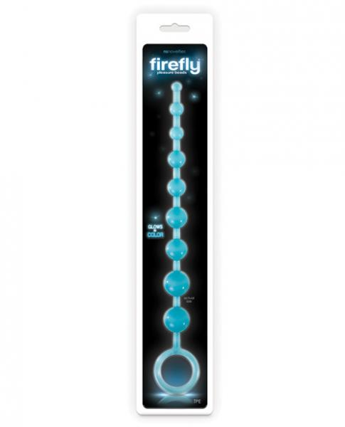 Firefly Pleasure Beads Blue Glow in the Dark