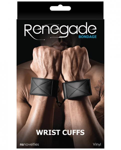 Renegade Bondage Wrist Cuffs Black