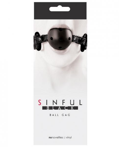 Sinful Black Ball Gag