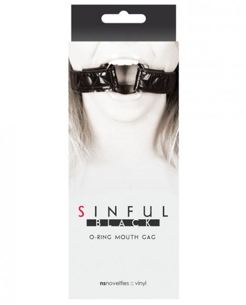Sinful O Ring Mouth Gag Black