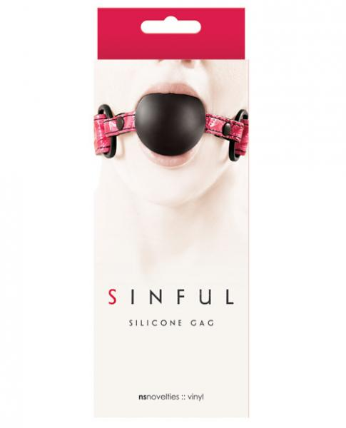 Sinful Soft Silicone Gag O/S Pink