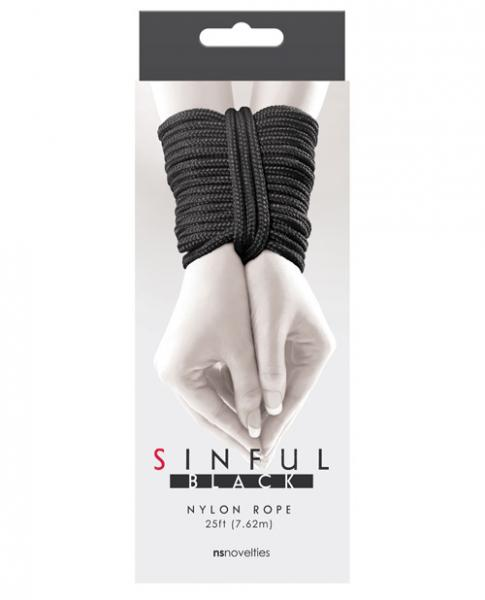 Sinful 25 Feet Nylon Rope Black