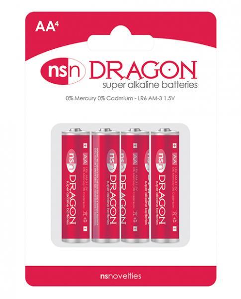 Dragon Alkaline Batteries 4 Pack AA