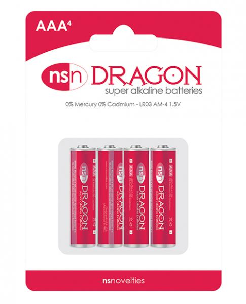 Dragon Alkaline Batteries Size AAA 4 Pack
