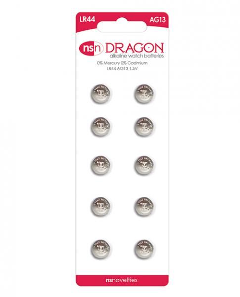 Dragon Alkaline Batteries Size AG13/LR44 10 Pack