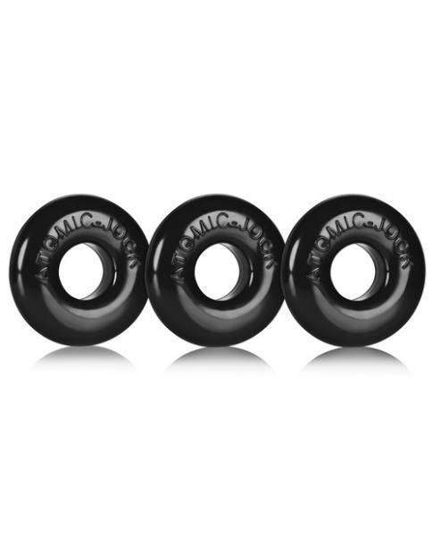 Oxballs Ringer Donut Black Pack Of 3