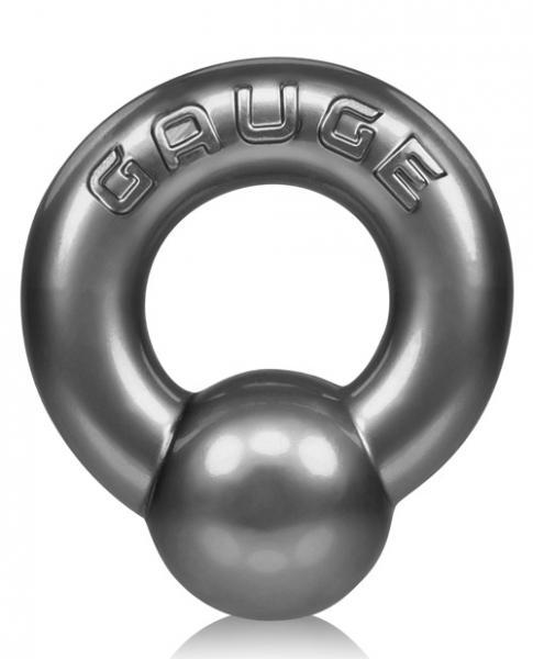 Oxballs Gauge Cock Ring Steel Silver