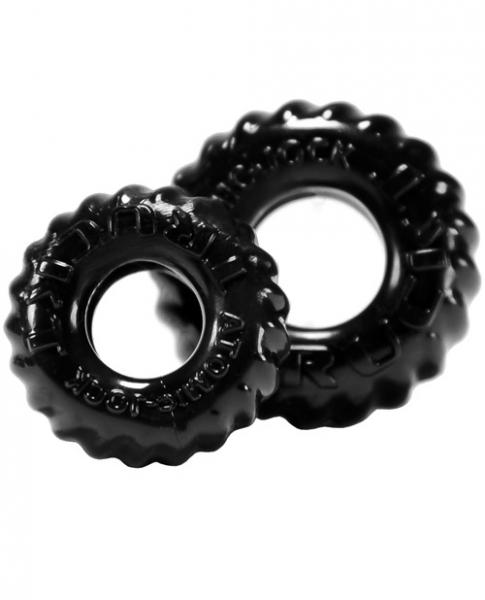 Truck Tire Cock & Ball Ring Black 2 Pack