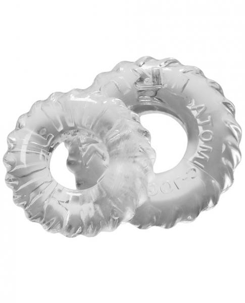 Oxballs Truckt Cock & Ball Ring Clear 2 Pack