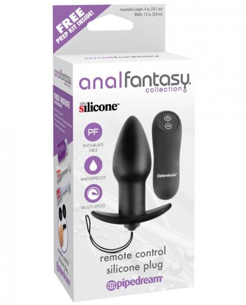 Anal Fantasy Remote Control Silicone Plug Black