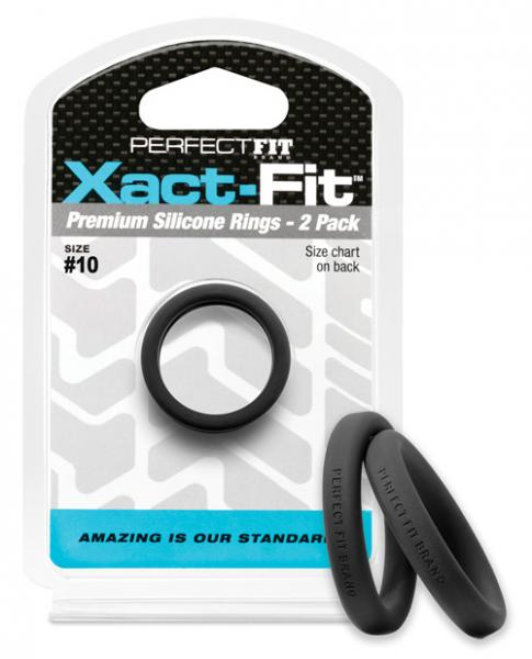Perfect Fit Xact-Fit #10 Black Pack Of 2 Rings