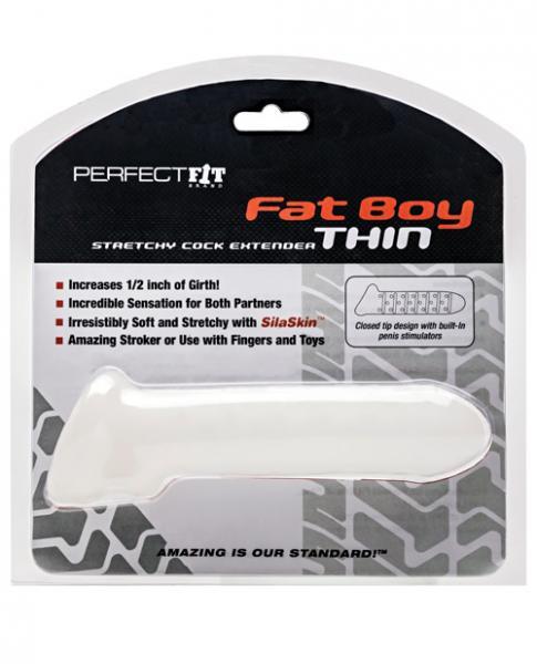 Fat Boy Thin Large Clear Sheath