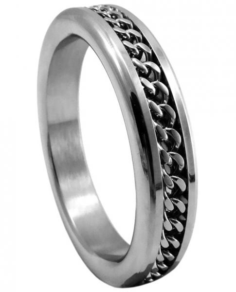 Stainless Steel Cockring Chrome Chain 1.75 Inches