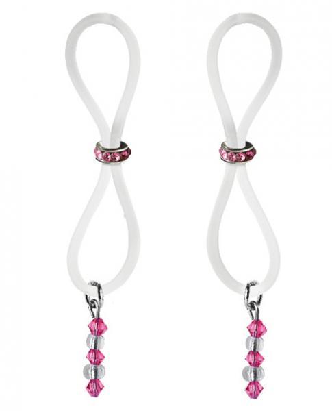 Bijoux De Nip Nipple Halos Pink Gem Slider Pink Clear