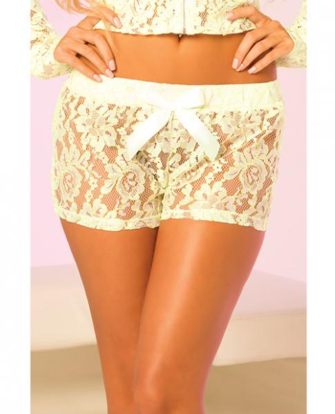 Loungwear Lace Lounge Shorts - Green Small