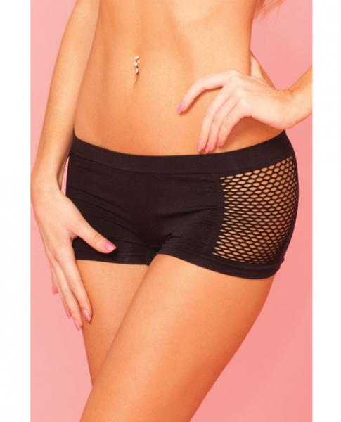 Pink Lipstick Sweat Side Net Stretch Hot Short For Support & Compression Black M/l