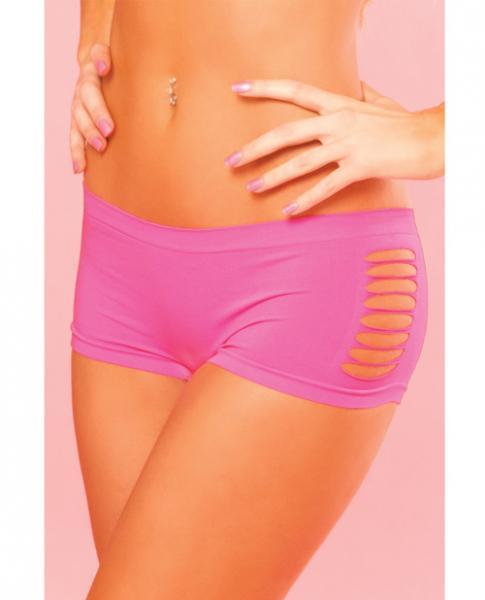 Pink Lipstick Sweat Pure Performance Side Slash Hot Short Pink S/m