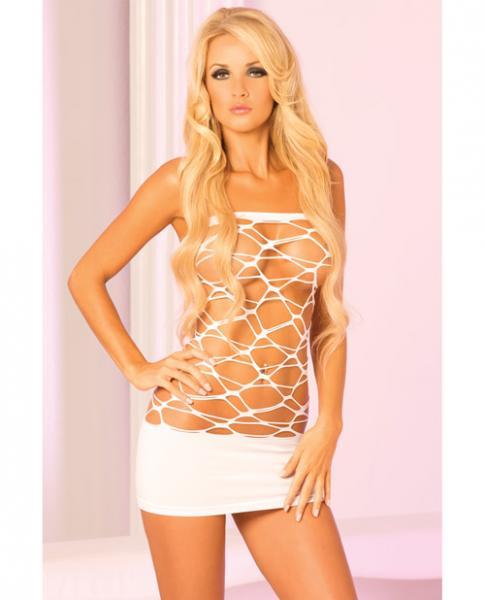 Web Of Seduction Tube Dress White O/S