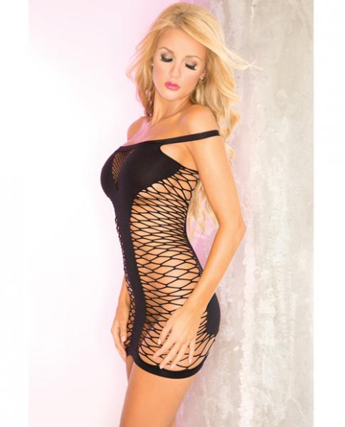 Tease To Please Seamless Dress Black O/S