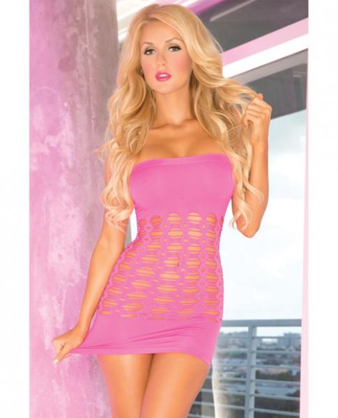 Pink Lipstick Middle Seamless Dress Pink O/S