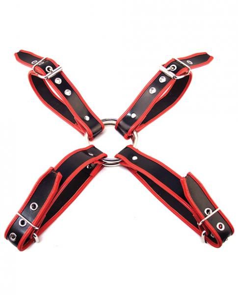 Rouge Chest Harness Large Black Red