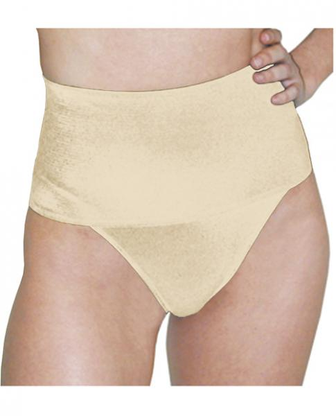 Rago Shapewear Wide Band Thong Shaper Beige Lg