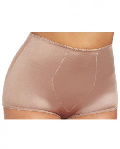 Rago Shapewear Rear Shaper Panty Light Shaping Contour Pads Mocha XL