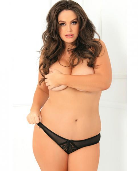 Miss Behavior Crotchless Panty Black 1X/2X
