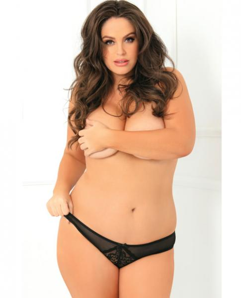 Miss Behavior Crotchless Panty Black 3X/4X