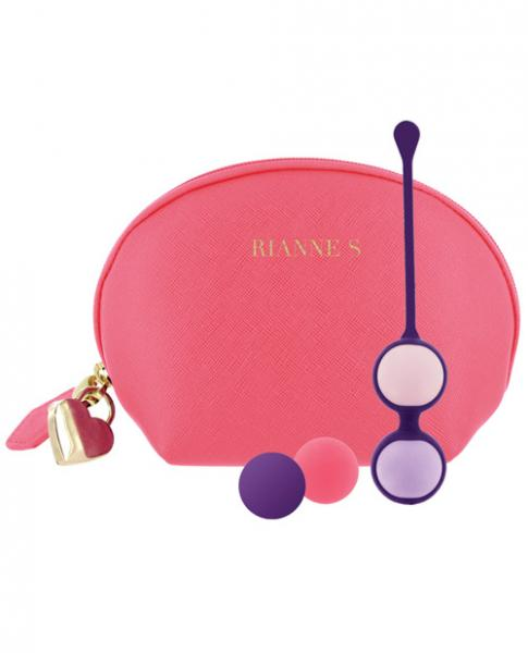 Rianne S Pussy Play Balls with Cosmetic Case Coral Rose
