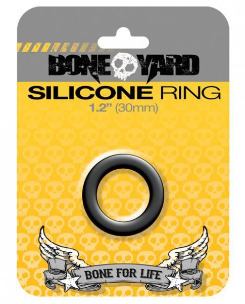 Boneyard Silicone Ring 1.2 inches Black