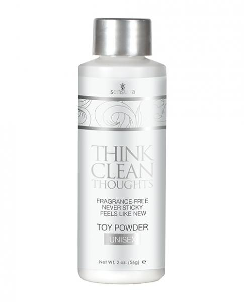 Sensuva Think Clean Thoughts Toy Powder Unisex 2oz Bottle