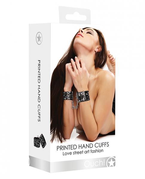 Printed Handcuffs Street Art Fashion Black