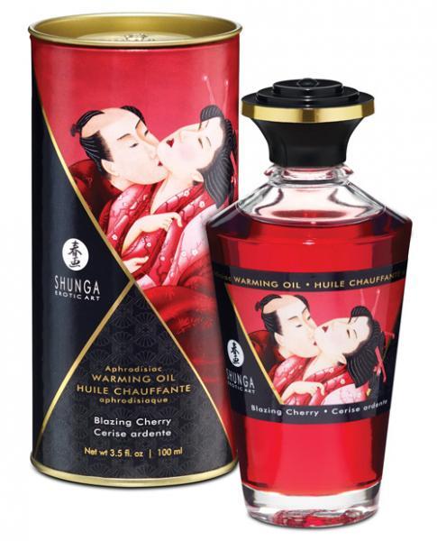 Shunga Warming Massage Oil Blazing Cherry 3.5oz