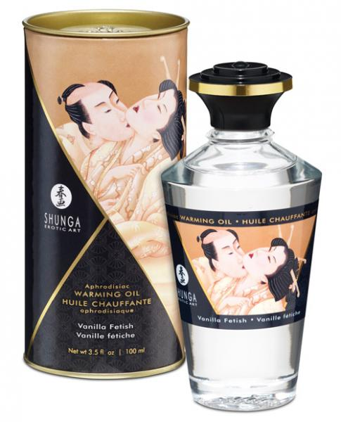 Shunga Warming Massage Oil Vanilla Fetish 3.5oz